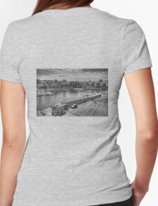 Heraklion Old Port B&W Womens Fitted T-Shirt