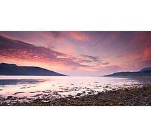 Loch Broom Dusk Photographic Print