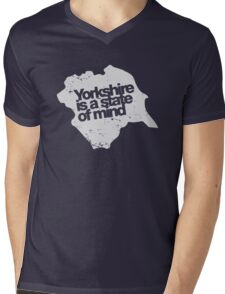 Yorkshire is a state of mind (white) Mens V-Neck T-Shirt