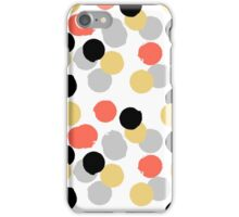 Polka dot print in multiple colors iPhone Case/Skin