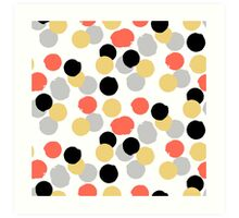 Polka dot print in multiple colors Art Print
