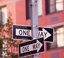 One way in New York City by Josef Pittner
