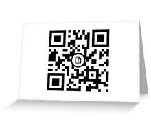 Mr. Robot cool QR code Greeting Card