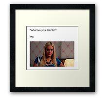 I can blink Framed Print