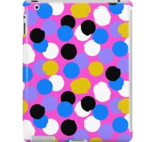 Polka dot print in pink, blue, white, black, yellow colors iPad Case/Skin