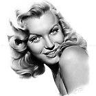 Marilyn Monroe pencil portrait by inspiredbydesin