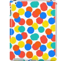 Polka dot print in bright red yellow blue colors iPad Case/Skin