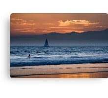 sunset at Venice Beach, Los Angeles Canvas Print