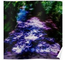 Sparkling Purple and Blue River Poster