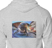 Fountain at the Bus Station Zipped Hoodie