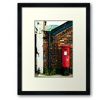 post box in macclesfield Framed Print