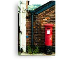 post box in macclesfield Canvas Print
