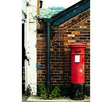 post box in macclesfield Photographic Print