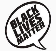 Black Lives Matter Comic Speech Bubble Kids Tee
