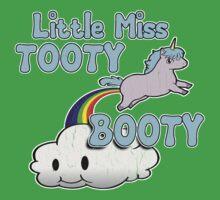 Little Miss Tooty Booty (vintage distressed look) Kids Tee