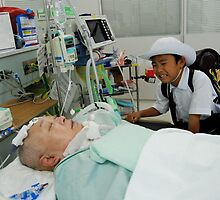 Grandson  and  my wife unconscious ,  JAPAN by yoshiaki nagashima