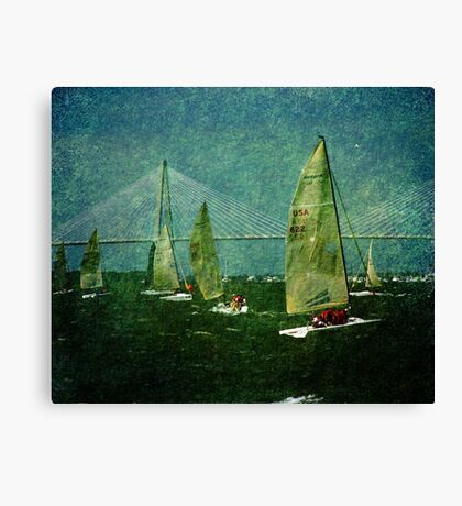 Sailing Regatta in Charleston SC Canvas Print