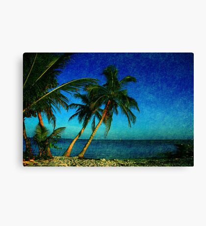 Palm Trees and the Beach in Key West Canvas Print
