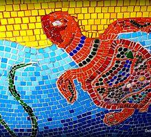Cedar Key Mosaic by Debbie Robbins