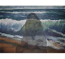 Donna and the wave. Best and first.  Photographic Print