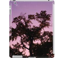 Starry Night Twilight Tree in Purple Sky iPad Case/Skin