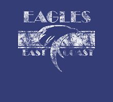 Retro Eagles White Womens Fitted T-Shirt