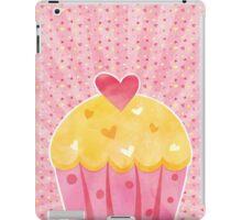 Watercolor Style Cupcake iPad Case/Skin