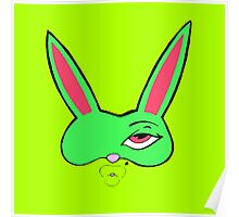 Green Bunny Mask Poster