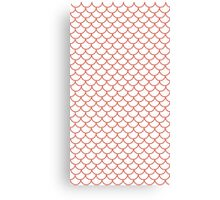Red Fish Scale Pattern Canvas Print