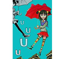 U is for Up Photographic Print