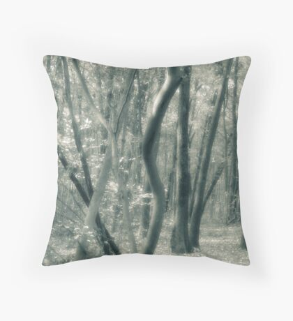 Tree Shapes Louis Campbell Nature Preserve Throw Pillow