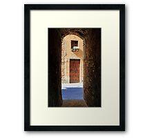 Pienza Passageway Framed Print