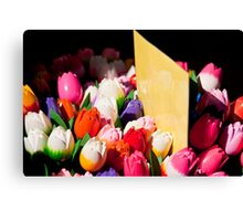 Carved Tulips Canvas Print