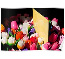 Carved Tulips Poster