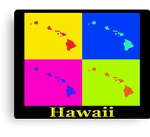 Colorful Hawaii State Pop Art Map Canvas Print