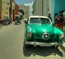 Green Studebaker  by Rob Hawkins