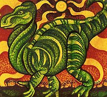 Iguanodon  by JacquelynsArt