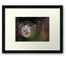 Alien Lifeform in Transit Framed Print