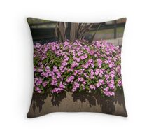Charlestown Purple Flowers 2 Throw Pillow