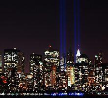 World Trade Center Tribute In Light 2010 by Scott  Hudson