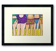 Beach Bums! Framed Print