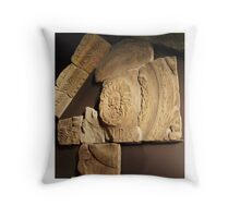 Roman Carvings, Bath, England - Uncaptioned Throw Pillow