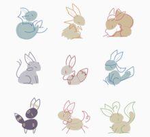 Eevee doodles by amisi