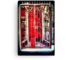 Red gates. Lomography Canvas Print