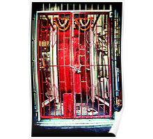 Red gates. Lomography Poster