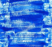 Cool & Calming Cobalt Blue Paint on White  by Perrin Le Feuvre