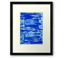Cool & Calming Cobalt Blue Paint on White  Framed Print