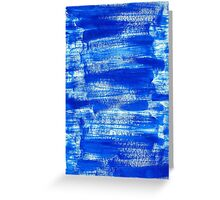 Cool & Calming Cobalt Blue Paint on White  Greeting Card