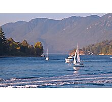 Sailing in Vancouver Photographic Print
