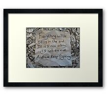 Warrior Daughters Framed Print